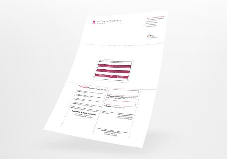 Bogenformulare mit integrierter Karte